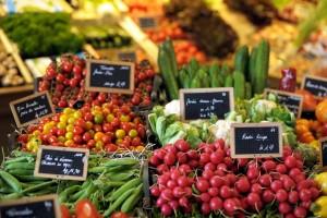 légumes été radis courgette tomates